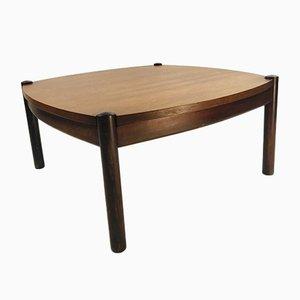 Mesa de centro escandinava vintage de palisandro con tablero reversible, años 70