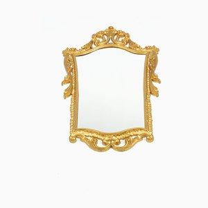Specchio vintage dorato, anni '70