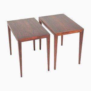 Tables d'Appoint Mid-Century en Palissandre par Severin Hansen pour Haslev Møbelsnedkeri, Danemark, 1950s, Set de 2