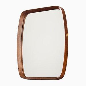 Italian Square Teak Mirror, 1960s