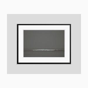 Grey Waves Oversize Archival Pigment Print Framed in Black by Stuart Möller