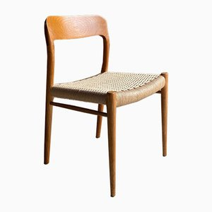 Danish Model 75 Dining Chairs by Niels Otto Møller for J.L. Møllers, 1970s, Set of 6