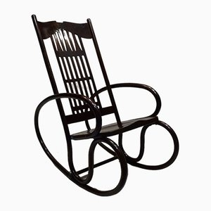 Art Nouveau Bentwood Rocking Chair by Gustav Siegel for Jacob & Josef Kohn