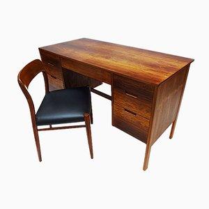 Dänischer Mid-Century Modell 75 Stuhl aus Teak, Plexiglas und Palisander von Niels Otto Møller für JL Møllers, 1960er