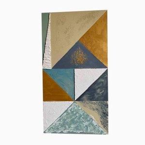 Triangolazioni Due Decorated Panel by Mascia Meccani for Meccani Design