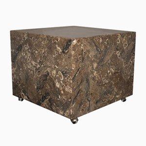 Tavolini in marmo con rotelle di Bufalini Marmi, Italia, anni '70, set di 2