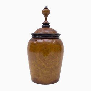 Art Deco Precious Wood Tobacco Pot, 1940s