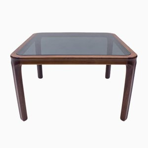 Scandinavian Rosewood and Smoked Glass Coffee Table, 1960s