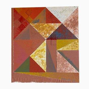 Triangolazioni Quattro Decorated Panel by Mascia Meccani for Meccani Design