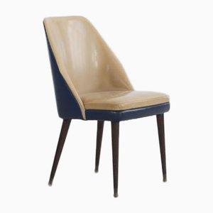 Zweifarbige Esszimmerstühle aus Kunstleder von Cassina, 1950er, 2er Set