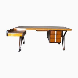 Rosewood Model Teseo Desk by Ico Luisa Parisi for MIM, 1960s