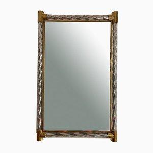 Italienischer Spiegel aus Verdrehtem & Verspiegeltem Murano Glas von Barovier & Toso, 1960er