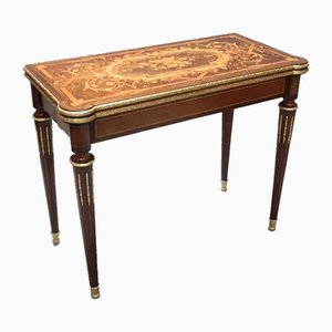 Louis XVI Style French Marquetry Rosewood Side Table, 1880s
