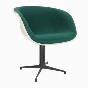 Sedia da pranzo La Fonda color verde smeraldo di Charles Eames & Alexander Girard per Herman Miller, anni '60
