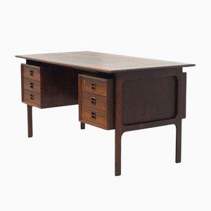 Mid-Century Free Standing Rosewood Desk from Brouer Møbelfabrik