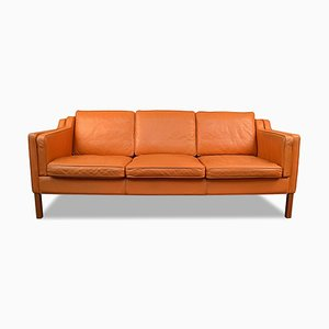 Vintage Leather 3-Seater Sofa from Stouby, 1962