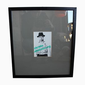 Framed Artist Postcard by Joseph Beuys, 1980s