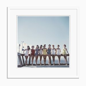 Lake Tahoe Ladies Oversize C Print Framed in White by Slim Aarons