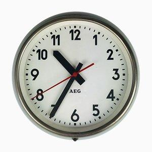 Orologio da fabbrica vintage industriale di Peter Behrens per AEG, Germania, anni '50