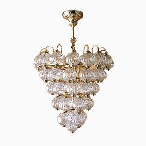 Lampada da soffitto sferica in vetro di Murano di Paolo Venini per Venini, anni '80