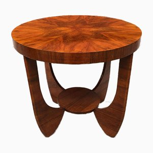 Mid-Century Art Deco Italian Briar Dining Table with Shaped Legs, 1940s