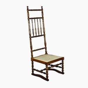 Antiker französischer Nussknospen Stehlstuhl oder Beistellstuhl