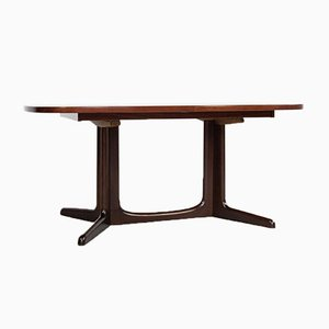 Mid-Century Danish Oval Rosewood Dining Table from Gudme, 1960s