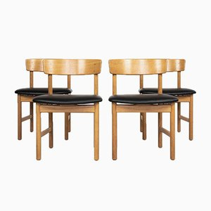 Mid-Century Danish Chairs by Børge Mogensen for Fredericia, 1960s, Set of 4
