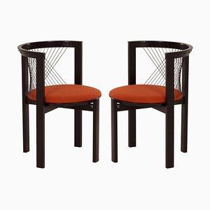 String Chairs by Niels Jørgen Haugesen for Tranekaer, Danmark, 1980s, Set of 2