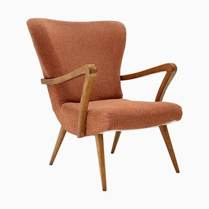 Mid-Century Wing Chair, Czechoslovakia, 1960s