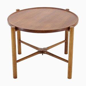 Tavolino di servizio in teak e quercia di Hans J. Wegner per Andreas Tuck, Danimarca, anni '60