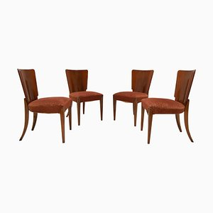 Art Deco Dining Chairs by Jindrich Halabala for Thonet, 1930s, Set of 4