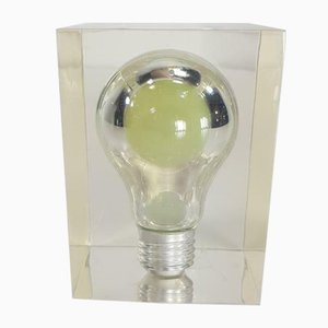 Vintage Glow in the Dark Lucite Incandescent Bulb Lamp by Pierre Giraudon, 1970s