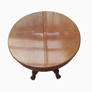 Antique Wood Adjustable Round Table