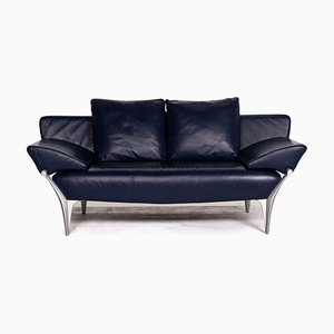 Dark Blue Leather 1600 2-Seat Sofa from Rolf Benz