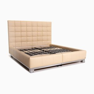 Cream Leather Boudoir Double Bed from Joop!