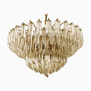 Crystal 6-Tier Chandelier by Paolo Venini, 1960s