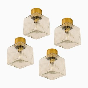 Cube Flush Mount Lamp or Sconce by J.T. Kalmar, 1960s