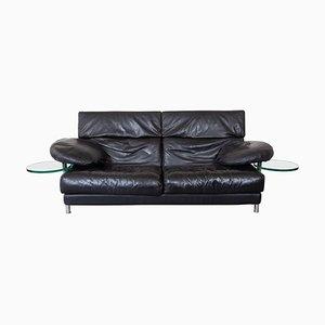 Black Leather Model Arca Sofa by Paolo Piva for B&B Italia, 1983