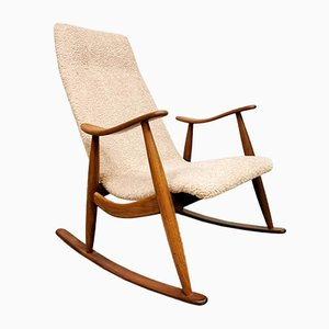 Vintage Dutch Rocking Chair by Louis van Teeffelen for Webe, 1960s