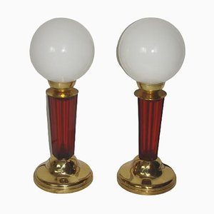 Art Deco Style Table Lamps, 1950s, Set of 2