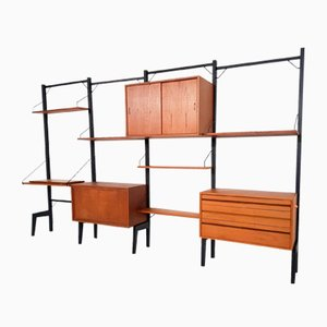 Danish Teak Wall Unit by Poul Cadovius for Royal System, 1950s