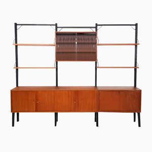 Large Danish Teak Wall Units by Poul Cadovius for Royal System, 1950s