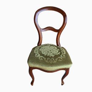 Antique Biedermeier Mahogany Chairs, Set of 6