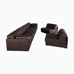 Brown Leather Sofart DS Modular Sofa, 1970s