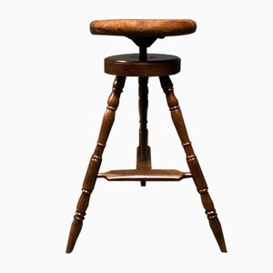Antique Beech Stool
