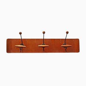 Geschwungene italienische Sperrholz Garderobe von Fratelli Reguitti, 1950er