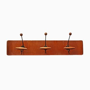 Italian Curved Plywood Coat Rack from Fratelli Reguitti, 1950s