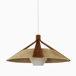 Large Raffia Pendant Lamp from Temde, 1960s