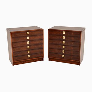 Rosewood Chest of Drawers by Robert Heritage for Archie Shine, 1960s, Set of 2
